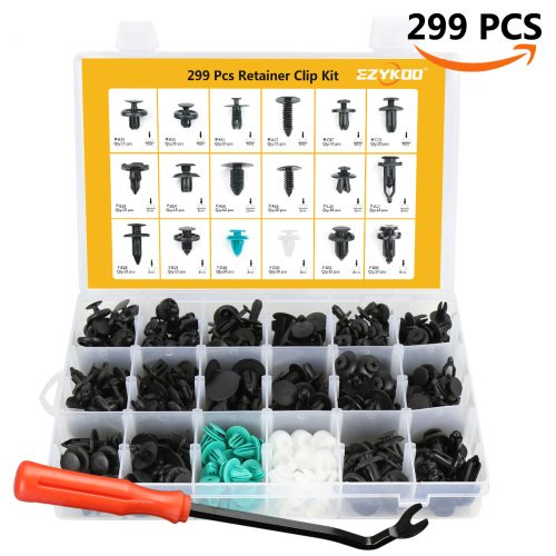 Push Rivets Kit Plastic Tirm Clips Fasteners Car Door Panel